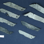 Blades of knife used in the finishing process of furs skins